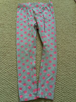 H&M grey pants w pink dots, 98/104 or 2-4 years