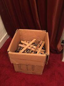 Aprox 50 wooden trouser coat hangers