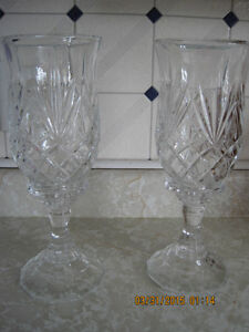 Two 11 1/2 inch tall Crystal Candle Holders St. John's Newfoundland image 2