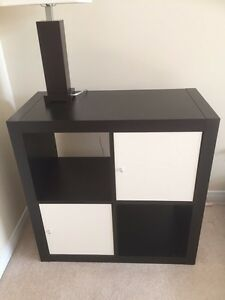 Ikea shelving unit with two inserts