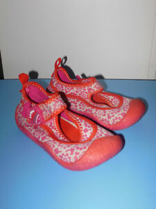 "Girls Size 7T Water Shoes from ""Carters"""