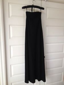 Banana Republic Strapless grey wool lined gown size 2