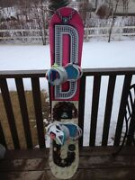 Womens -149.5cm   DC Snowboard and Union Bindings