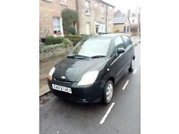 Chevrolet MATIZ black 2007 1 years mot 25700 miles