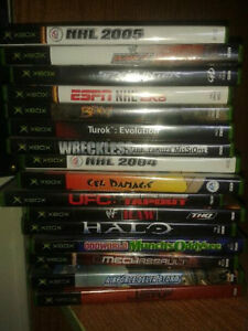X-Box Generation 1 games for sale, various.