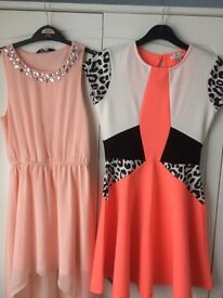 Two girls party dresses new look/river island