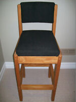 Wood Bar/Counter Chairs - Mint Pair!
