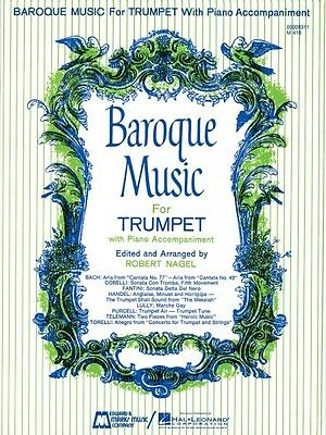 Baroque Music for Trumpet Trumpet and Piano Brass Solo NEW -