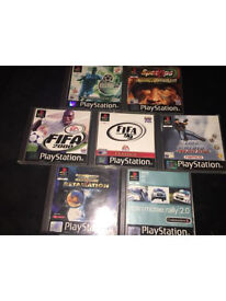 7 PlayStation 1 games all excellent condition