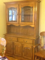 Table, Chairs, China cabinet
