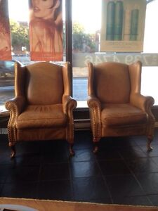 Wings chairs (3) and a love seat for sale
