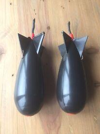 2 x large spomb bait rocket £10