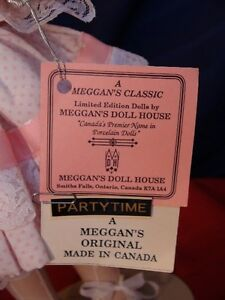 Meggan's Collectors Canadian Procelain Handmade Doll Partytime London Ontario image 8