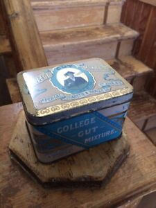 Rare college cut tobacco tin