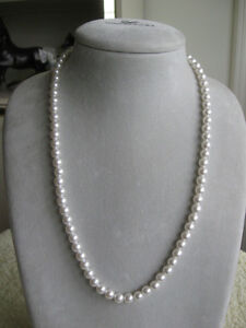 "CLASSY 23"" STRING of FAUX- PEARLS...Ready for the Ball"