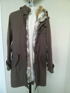 Ladies Spring / Fall / Winter Jacket with Fur Trim (S to M)