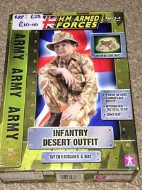 Army Infantry Desert Outfit Age 3-8