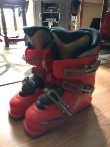 boots, skis and poles
