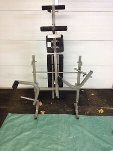 Folding Weight Bench & Weights