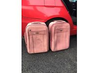 2 x cabin size hand luggage suitcases