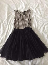 Girls monochrome occasion dress age 9-10