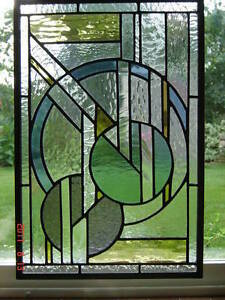 "Stained Glass Art-Deco panel-11"" x 16""--NEW Kingston Kingston Area image 2"