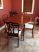 Solid Wood Dining Table and Hutch - Reduced!