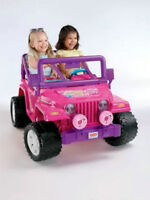 Fisher-Price Power Wheels Barbie Jeep Wrangler - Jammin Jeep  Bo