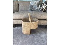Wicker Basket for Stairs