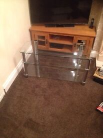 Tv stand glasss toughened £25