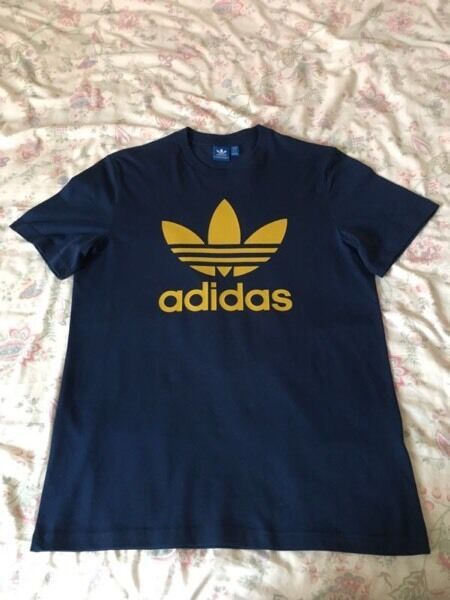 Men's Adidas Originals Trefoil T-Shirt Blue Size L