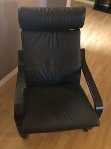 IKEA Chair dark brown leather $100 mint condition