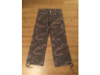 True Religion Brand Jeans camouflage cargo pants. Brand new. Waist 32. Thick stitch