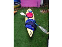 Yellow sports canoe