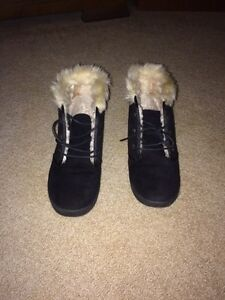 Microsuede Winter Boots with Faux Fur Internal & Top Liner