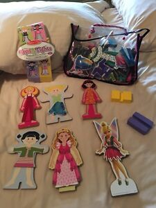 Wooden dolls with magnetic clothes - Tops and Tights  Kitchener / Waterloo Kitchener Area image 2