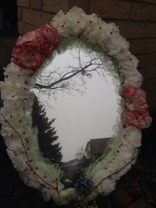 Flower hanging mirror  Kitchener / Waterloo Kitchener Area image 1