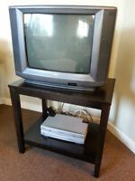 Television, Table & VHS Tape Player