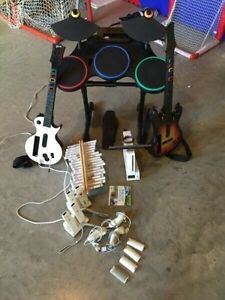 Nintendo Wii with Wode Adapter and many extras