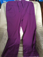 Burgundy Lululemon be STILL yoga pants-  size 6