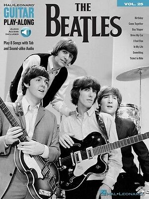The Beatles Sheet Music Guitar Play-Along Book and Audio NEW 000198265