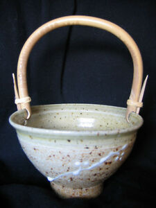 POTTERY BASKET BY ONTARIO ARTIST