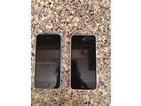 2 broken iPhone 5c