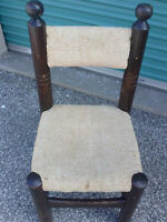 Antique unusually chair, plus cool wood table