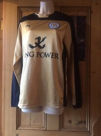 Leicester city away shirt 2014/15 season unisex. Small