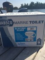 Marine Electric Flush Toilet - New! Never been removed from the