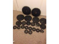 Cast iron weights 50kg total