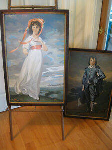 2 LARGE VICTORIAN-ERA FRAMED REPRO'S..BLUE BOY & PINKIE