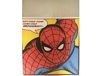 Super man , Spider-Man Canvas