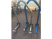 Set of front and rear Micron paddock stands